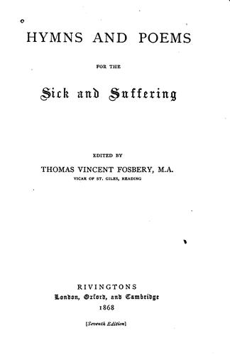 Hymns and Poems for the Sick and Suffering