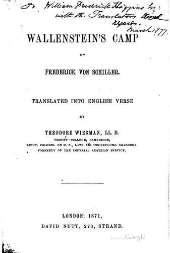 Download Wallenstein's Camp