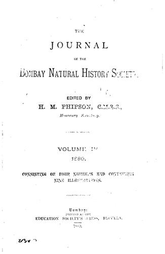 Journal of the Bombay Natural History Society