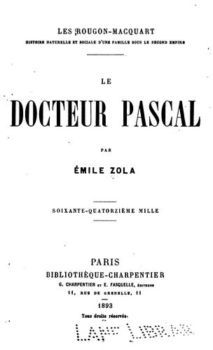 Download Le docteur Pascal