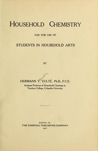 Household chemistry for the use of students in household arts