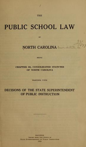 Download The public school law of North Carolina