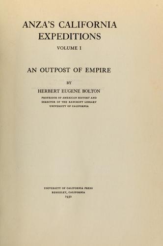 Download Anza's California expeditions, Vol. 1
