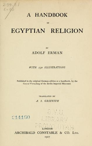 Download A handbook of Egyptian religion