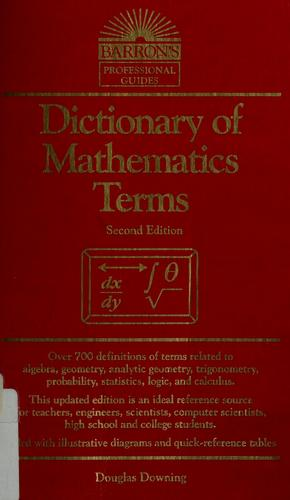 Download Dictionary of mathematics terms