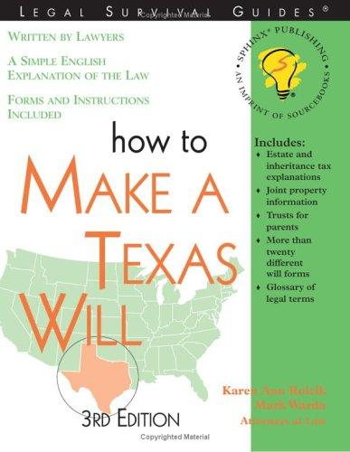 Download How to make a Texas will