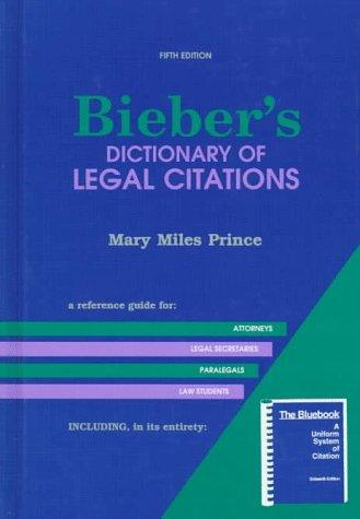 Bieber's dictionary of legal citations