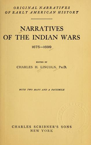 Download Narratives of the Indian wars, 1675-1699