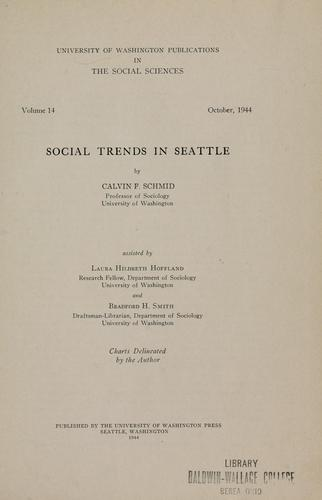 Download Social trends in Seattle
