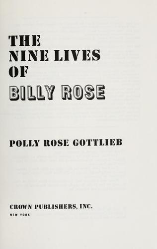 Download The nine lives of Billy Rose.