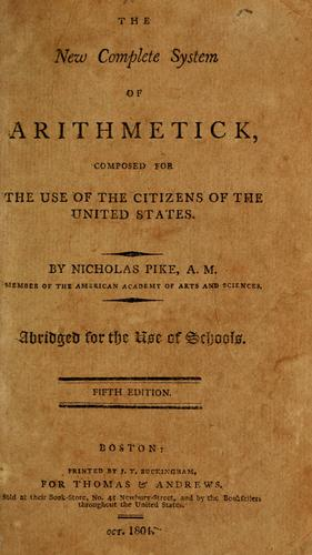 The new complete system of arithmetick