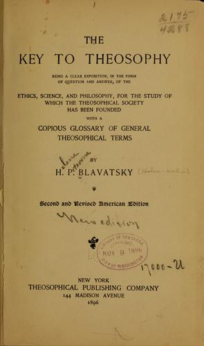 Download The key to theosophy