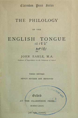 Download The philology of the English tongue