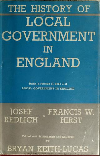 The history of local government in England
