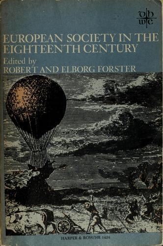 European society in the eighteenth century.