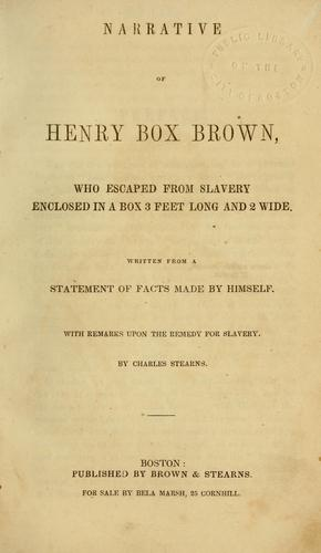 Download Narrative of Henry Box Brown