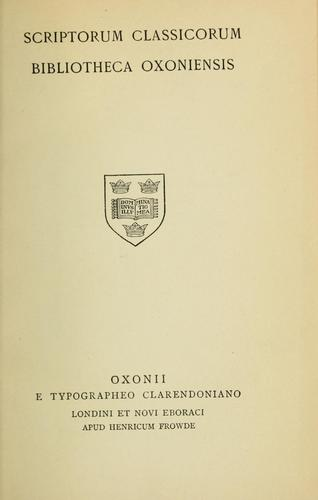 Hyperidis orationes et fragmenta.