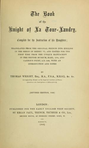Download The book of the knight of La Tour-Landry.