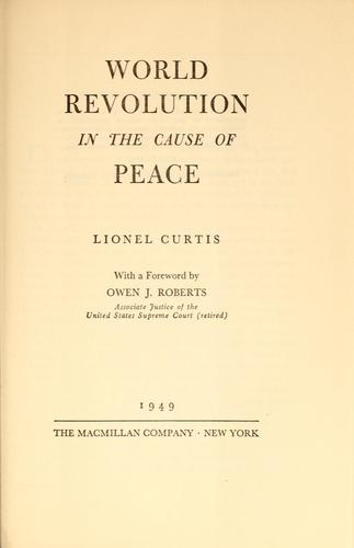 World revolution in the cause of peace