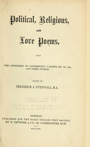 Political, religious, and love poems.