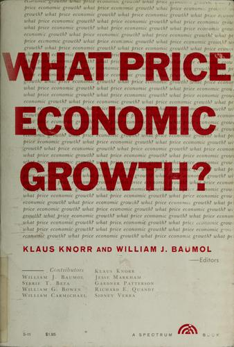 Download What price economic growth?