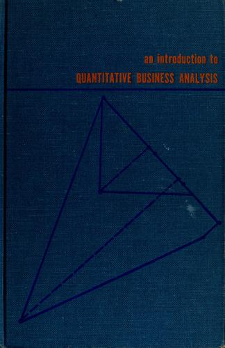Download An introduction to quantitative business analysis