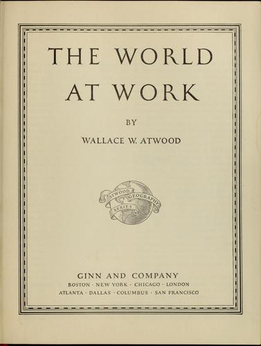 Download The world at work
