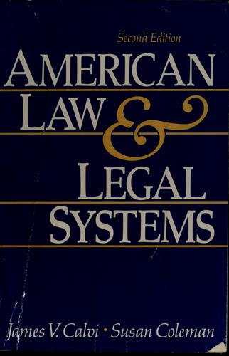 Download American law and legal systems