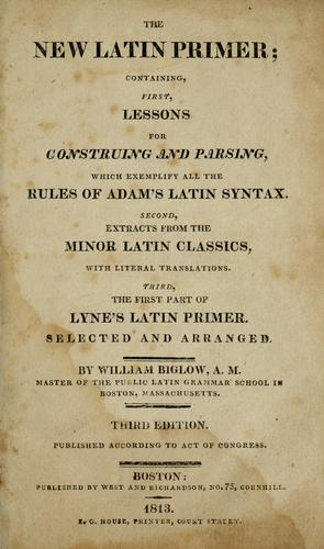 Download The new Latin primer
