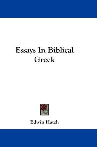 Download Essays In Biblical Greek