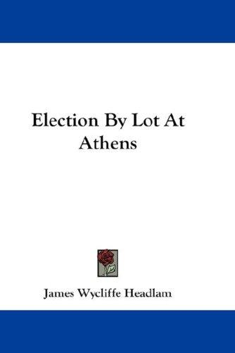 Election By Lot At Athens