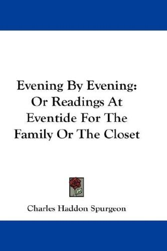 Download Evening By Evening