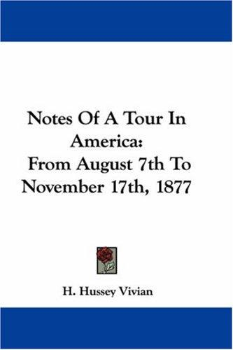Download Notes Of A Tour In America