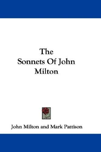 Download The Sonnets Of John Milton