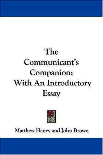 Download The Communicant's Companion