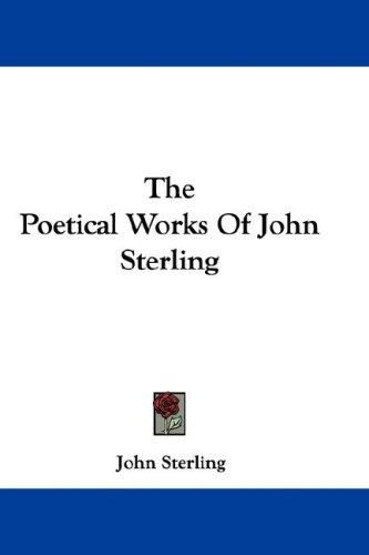 The Poetical Works Of John Sterling