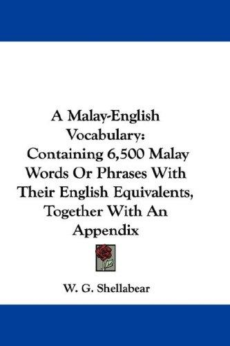 A Malay-English Vocabulary