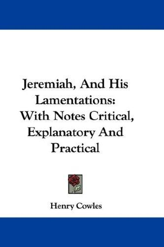 Download Jeremiah, And His Lamentations