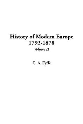 Download History of Modern Europe 1792-1878