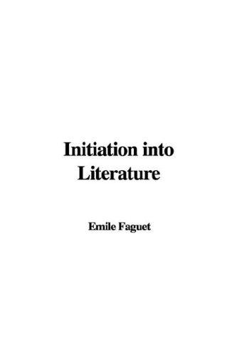 Download Initiation into Literature