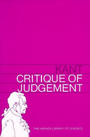 Download Critique of Judgement (Hafner Library of Classics)