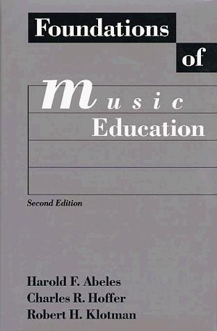 Download Foundations of music education