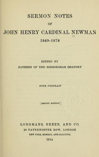 Download Sermon notes, 1849-1878