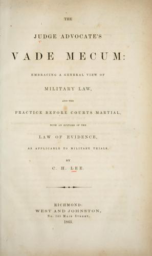 Download The judge advocate's vade mecum