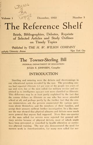 The Towner-Sterling bill