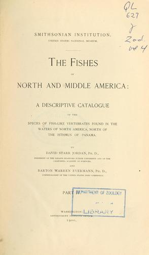 The fishes of North and Middle America