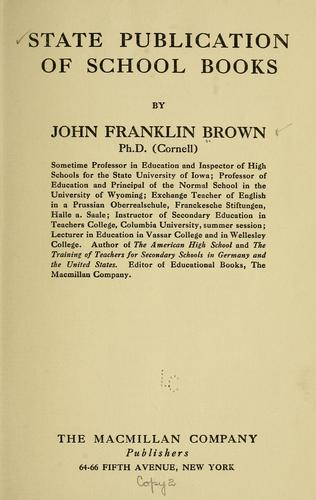 State publication of schoolbooks