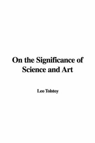 Download On the Significance of Science and Art