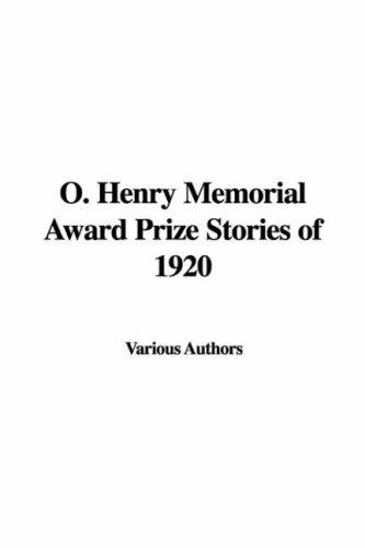 Download O. Henry Memorial Award Prize Stories of 1920