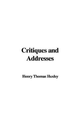 Download Critiques and Addresses